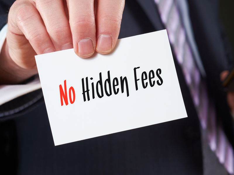 No hidden costs